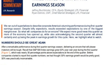 Three Things to Watch This Earnings Season   Weekly Market Commentary   July 12, 2021